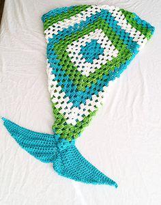 Meerjungfrau Schwanz Decke - häkeln Meerjungfrau Schwanz Decke häkeln - Handarbeit - Decke - Geschenk - jeder Größe zur…