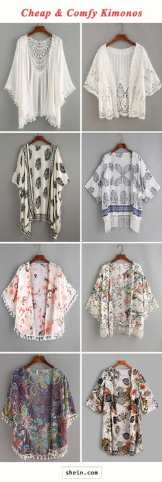 Cheap & comfy kimonos https://tmblr.co/ZnVlHd2OD7Vq1 Shein Review, Cheap Kimonos, Boho Fashion, Fashion Ideas, Unique Fashion, Sewing Crafts, Sewing Hacks, Sewing Projects, Pretty Outfits