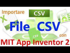 MIT App Inventor 2 ITA# Tutorial 71 File CSV