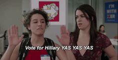 season 3 hillary clinton comedy central broad city yas ilana glazer abbi jacobson 03x05 vote for hillary #humor #hilarious #funny #lol #rofl #lmao #memes #cute