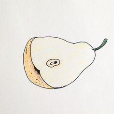 PEAR 🍐 . . . . . #건강한음식을먹자  #무농약 #친환경 #유기농  #과일 #음식 #푸드 #배 #서양배 #일러스트 #드로잉 #스케치 #두들  #pear #fruit #nongmo #organic #food #clean #healthy #goodlife #doodle #sketch #illustration #drawing
