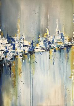 Abstract Oil Painting Gold Painting This is an original professional painting right from my favorite studio. Signature front and back. If you want what I have created for you picture of another size, just write me Your painting will be create very similar in same style, color and