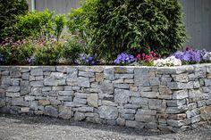 Ticonderoga granite wall planters