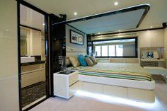 Nomad 75 owner's stateroom. Visit gulfcraftinc.com for more information.