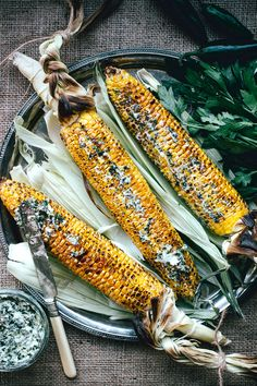 Roasted Corn with Spicy Chimichurri Butter