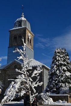 Eglise de Prénovel et son clocher comtois   Jura, France   #Jura #JuraTourisme