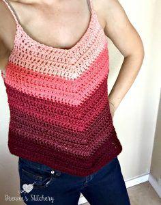Ombre Tank Top - free crochet pattern by Breann's Stitchery.