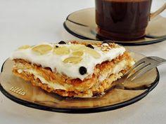 В кулинарния свят на tillia: Ябълкова торта с бисквити Pancakes, Deserts, Dessert Recipes, Cooking Recipes, Sweets, Baking, Breakfast, Food, Bulgarian Recipes