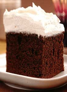 Recipe: Marcel's First Birthday Chocolate Cake with Fluffy Vanilla Frosting - Recipelink.com