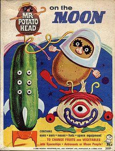 Mr Potato Head on the Moon ( 1968 Hasbro)