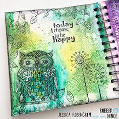 Art journal page with Mama Owl by Jessica Art Journal Pages, Art Journals, Creative Journal, Fun Challenges, Owl Art, Dance Art, Fairy Art, Cool Diy Projects, Art Journal Inspiration