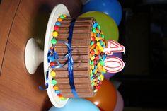 Chocolatey choc birthday cake