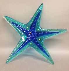 fused glass starfish for a wedding gift