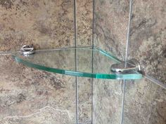 Tempered glass shelves are great accent pieces for your shower. They come in corner shelves, rectangle and custom designs. Clear glass, Brushed Nickle and Chrome finish. Glass Corner Shower, Wall Mounted Corner Shelves, Glass Shelves In Bathroom, Small Bathroom, Bathrooms, Tempered Glass Shelves, Curved Glass, Shelf Design, Wooden Shelves
