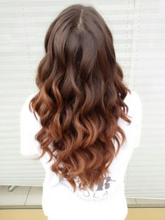 Curls with 2 inch curling iron