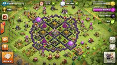 Level 8 Town Hall Defense Clash Of Clans Base Design