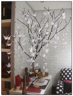 Origami crane tree wedding ideas new ideas Origami Diy, Origami Wedding, Origami And Kirigami, Creative Christmas Trees, Christmas Decorations, Holiday Decor, Diy Paper, Paper Crafts, Christmas Origami
