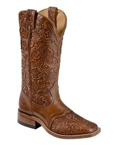 Boulet Hand Tooled Belmont Cowgirl Boots - Square Toe  Awesome boots!