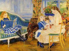 Children's Afternoon At Wargemont.  Pierre Auguste Renoir (1841 – 1919, French)