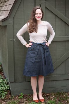 Sewin' Steady: Finished Project: Denim Miette