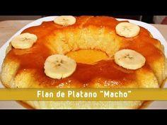 FLAN DE PLATANO -  RECETA FACIL les recomendamos este delicioso postre, realmente uno de los mas sabrosos que hay, receta sencilla receta, receta rapida. Cocinando Con Ingrid. Cocina internacional, easy recipes, receta de pollo, flan, Easy flan recipe.
