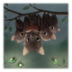 The Occasional Bat  Hello Monday! Illustration by Syd Hanson.