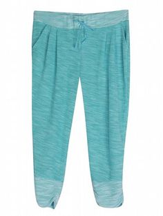 Teal Marled Capri Jogger $32  Stretch waist marled capri jogger has a skinny tie closure at the waist and two slash pockets at the hips. Waist and hips have contrasting colors.  #alight #plus #plussize #plussizefashion #capris #jogger #teal #summer #trend #trendy #cute