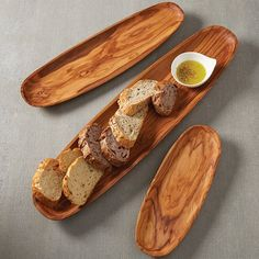 Oblong Olive Wood Boats by American Metalcraft Wood Turning Projects, Wood Projects, Plateau Charcuterie, American Metalcraft, Wooden Plates, Wood Boats, Serving Plates, Serving Dishes, Wood Patterns