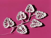 20 FREE Crochet Leaf Patterns for Every Season: Irish Crochet Leaves Free Pattern