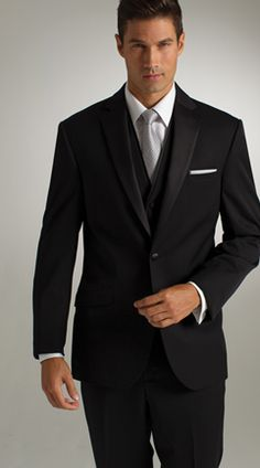 Joseph Abboud, black suit, black tux, classic, modern, traditional, slim fit, groom, prom, wedding