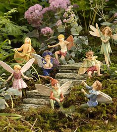 Little fairy figures for the girls to play with in the garden.