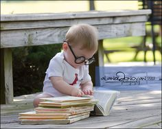 Little bookworm - would be so cute with Harry Potter theme and all the books