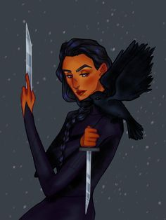 A crow is a girl's best friend Writing Inspiration, Character Inspiration, Character Art, Crooked Kingdom, The Grisha Trilogy, Crow Art, Leigh Bardugo, My Ghost, Six Of Crows