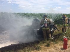 Vehicle catches Fire after Roll-over Accident in Sanilac County