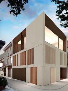 Una casa de diseño en la huerta