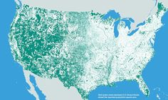 Interactive map shows that 47percent of the country is inhabited