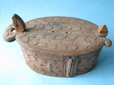 Scandinavian bentwood Folk Art Box