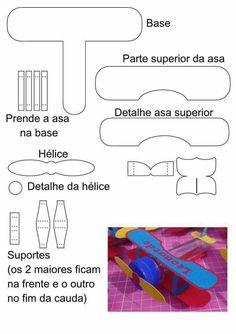 molde do porta bombom de avião do Pequeno Príncipe - Pesquisa Google