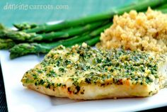 Cilantro Baked Tilapia recipe- the first fish I've made that I truly liked and my boyfriend too, and he's not a fish fanatic. Tilapia Recipes Healthy Baked, Fish Recipes, Seafood Recipes, Dinner Recipes, Cooking Recipes, Healthy Recipes, I Love Food, Good Food, Yummy Food
