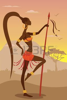 Illustration of Vector Illustration of African Woman vector art, clipart and stock vectors. African Wall Art, African Artwork, African Art Paintings, African Prints, African Fabric, African American Art, African Women, African Fashion, Ankara Fashion