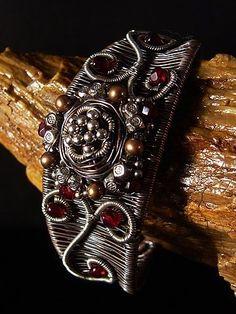 Wire Wrapped Cuff Bracelet Tutorial by Missy Polk Lynde