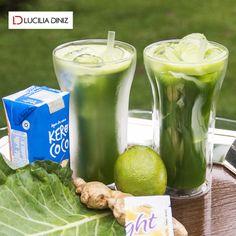 SOS Carnaval: suco detox com água de coco - Lucilia Diniz