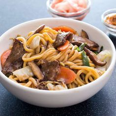 Japanese-Style Stir-Fried Noodles with Beef