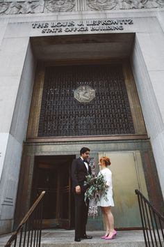 Justine and John | New York City Hall Wedding | Session in the LES