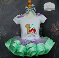 Little Mermaid Ariel Tutu SetIncludes by lilabbehandmade on Etsy Little Mermaid Birthday, Little Mermaid Parties, Ariel The Little Mermaid, 4th Birthday Parties, 5th Birthday, Birthday Ideas, Bday Girl, Decoration, Kendall