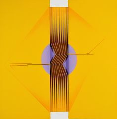 Alberto Biasi (b.1937), Con-centro (2008), acrylic on canvas, 60 × 60 × 4 cm. Via Artsy.
