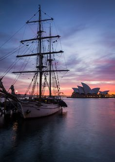 The Tall Ship, Australia...The Sydney Opera House can be seen in the background