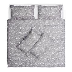 SKÖRPIL Quilt cover and 4 pillowcases - 200x200/50x80 cm - IKEA