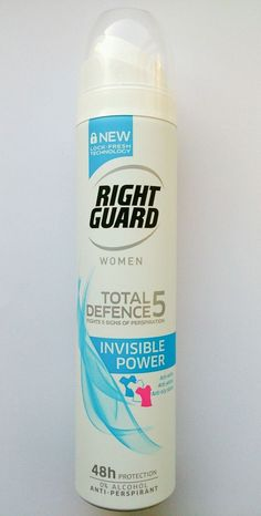 Right Guard Women Total Defence5 Invisible Power Anti-Perspirant Deodorant 250ml