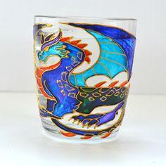 Dragon Coffee Mug.Hand painted.Coffee Mug.Unique Mug.Targaryen